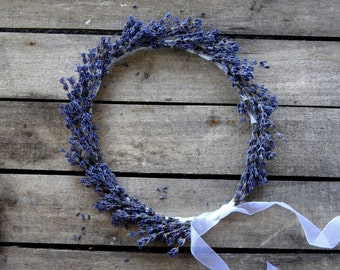 Dried Lavender Bridal Flower Crown - Wedding Crown - For Brides, For Bridesmaids, For Flower Girls