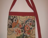 Vintage Flat Tote with Long Adjustable Strap