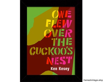 One Flew Over The Cuckoo's Nest, Ken Kesey, Framed Art, Book Art, Art Print