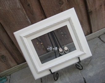 Earring stand,  5x7 frame.