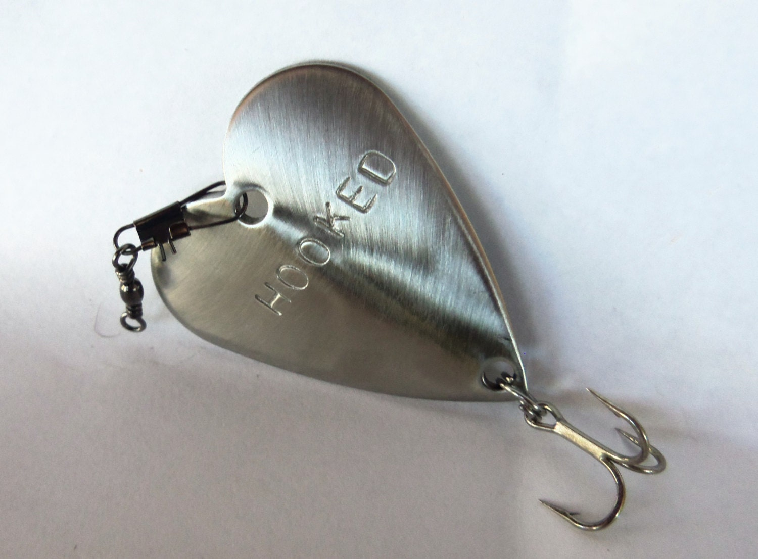 Fishing unique father 39 s day gift hooked heart fish lure for Unique fishing gifts