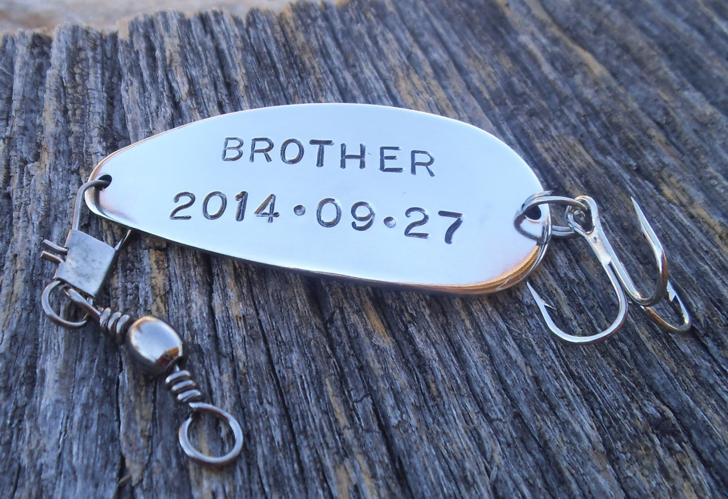 Personalized fishing lure brother of the bride gift for for Personalized fishing lure