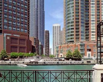 Print, Urban Landscape, Chicago River