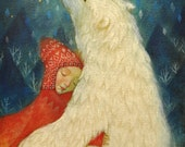 "Limited edition giclée print of original painting by Lucy Campbell - ""magical pelt"""