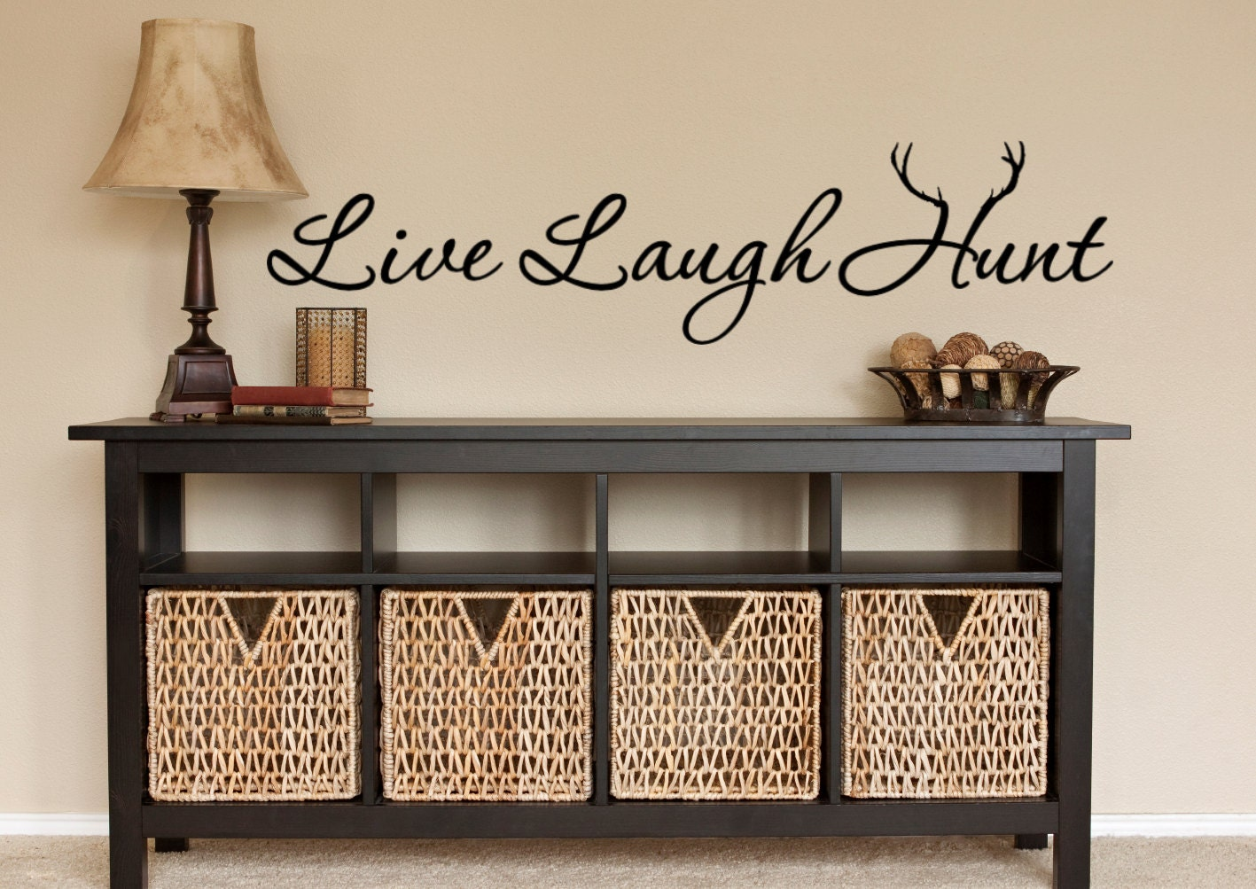 hunting wall decal hunt hunting decor live laugh hunt zoom