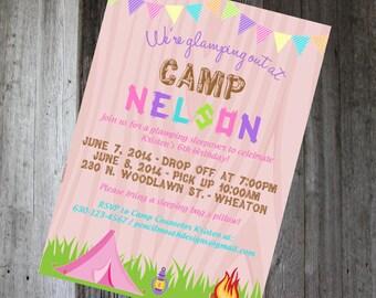 Camping/Glamping Invitation - DIY PRINTABLE