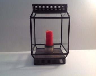way cool candle lantern repurposed from vintage exterior light fixture