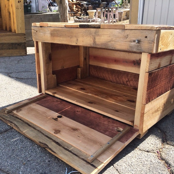 Rustic Chest Rugged Style Handmade Pallet Wood Chest Bench