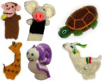 50 Peruvian Hand Knit *Zoo* Finger Puppet -Toy