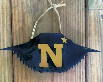 Hand painted Naval Academy - Navy crab ornament