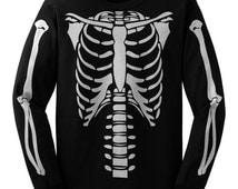 Skeleton Torso Long sleeve Halloween Costume T-shirt
