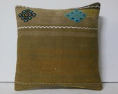 HANDWOVEN beige antique fabric contemporary pillow ethnic throw pillow turkish pillow turkish rug boho cushion cover brown kilim pillow 8016