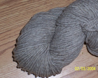 MERINO  Worsted natural cream and natural light taupe 3 ply yarn- 4 oz. 245 yds/ skein
