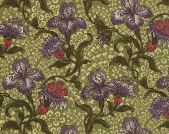 Iris garden fabric by Moda
