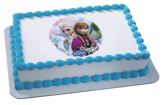 Frozen Edible Image Cake Topper by ABirthdayPlace on Etsy