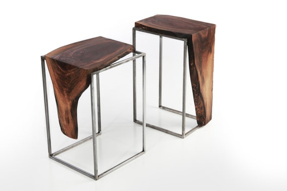 Black Walnut Side Tables from Anton Maka Designs