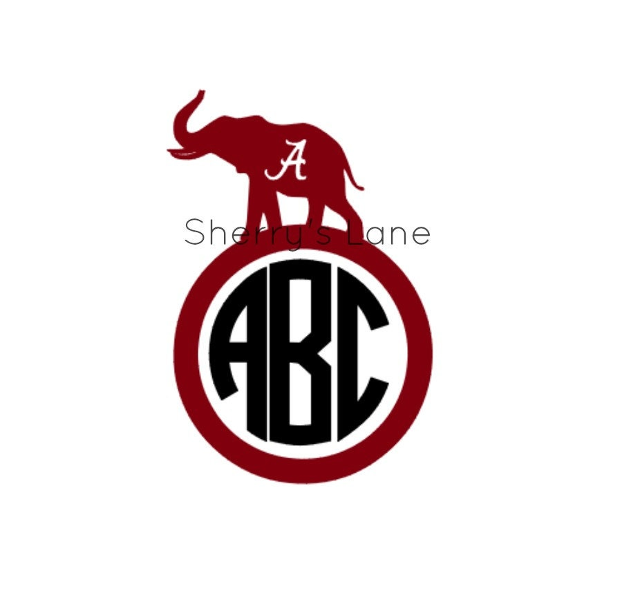 Alabama Monogram Car Decal