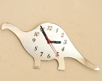 Dinosaur Clock Mirror - 2 Sizes Available