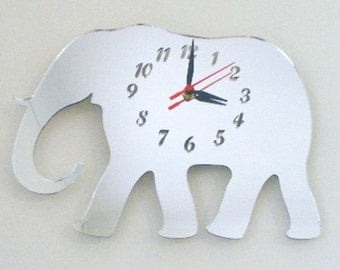 Elephant Clock Mirror - 2 Sizes Available