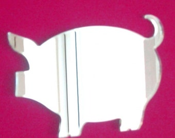 Pig Shaped Mirrors - 5 Sizes Available.   Also available in packs of 10 Little Piglets for crafting and decorative use