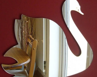 Swan Mirror - 5 Sizes Available.  Also available in packs of 10 Baby Cygnets for crafting and decorative use