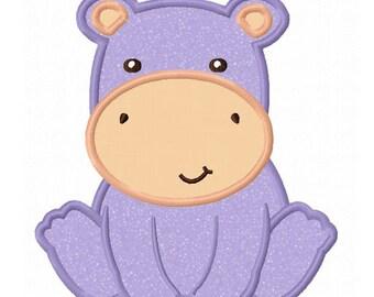 Hippo Baby Applique Machine Embroidery Design NO:0157