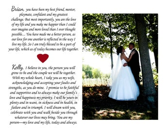 Custom vows wedding print- wedding vow keepsake, personalized vows, paper annivesary, gift for wife, wedding vows canvas, first dance lyrics