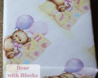 Bear with Blocks Baby Gift Boxes - Origami - Baby Girl Gift Boxes - Set of 12