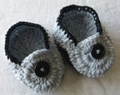Moccasins  with Slip-Proof Soles / Boy / Girl / Double-sole / Crocheted Chunky Yarn / You choose the color