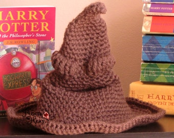 The Hogwarts Sorting Hat - Baby, Child, Adult - Crochet, Handmade, Made to Order