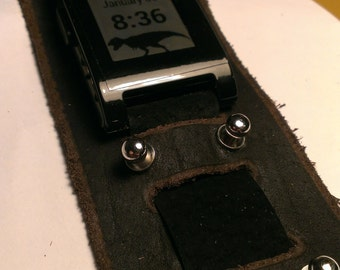 Pebble leather watch band