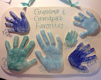 Handprint Keepsake Featuring all of the Grandkids