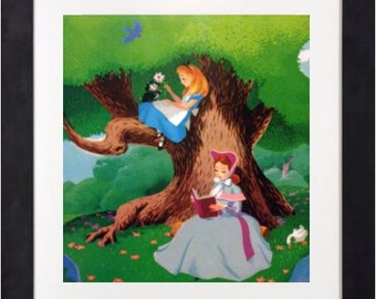 Disney Vintage Art Print - Alice in Wonderland