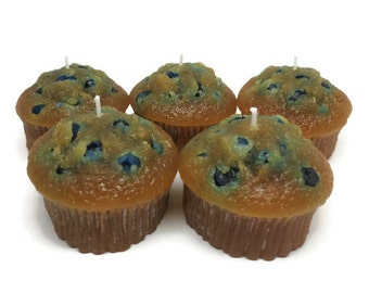 blueberry muffin candle unscented,  blueberry muffin candle, bakery candle,  food candle,  blueberry candle