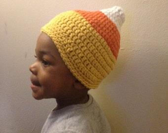 Candy Corn Hat Custom (Newborn, 3-6 Months, 6-12 months, 12-24 months, 2-5 years)