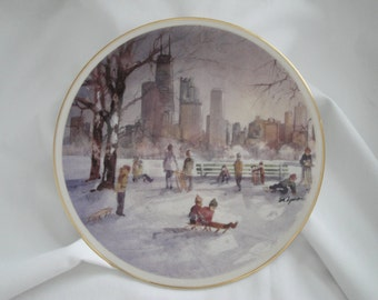 Chicago's Lincoln Park Plate/Artist Tom Lynch/Limited Edition
