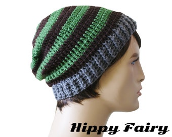 Beanie hat men, men hat,Slouchy beanie,Mens crochet beanie Mens beanie hat,striped hat, crochet mens hat, beanie for men