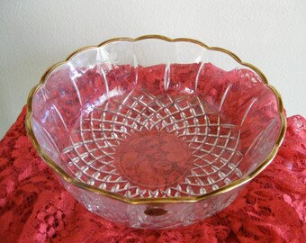 50% Off Italian Crystal RCR Bowl Gold Trim