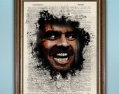 Here's Johnny -- Jack Nicholson Shining Dictionary Print --- Buy 2 get 1 Free! - Antique Book Page Interesting Home Decor Vintage