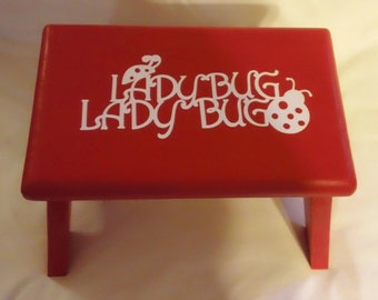 Ladybug Ladybug in Red with White Lettering