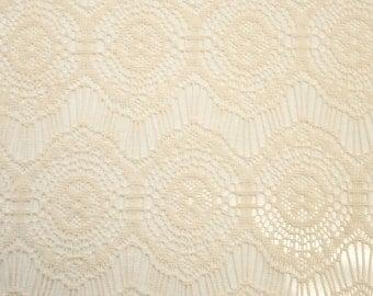 Tan Opalyn Pattern Lace Fabric by the yard - Pattern Opalyn - 1 Yard Style 332