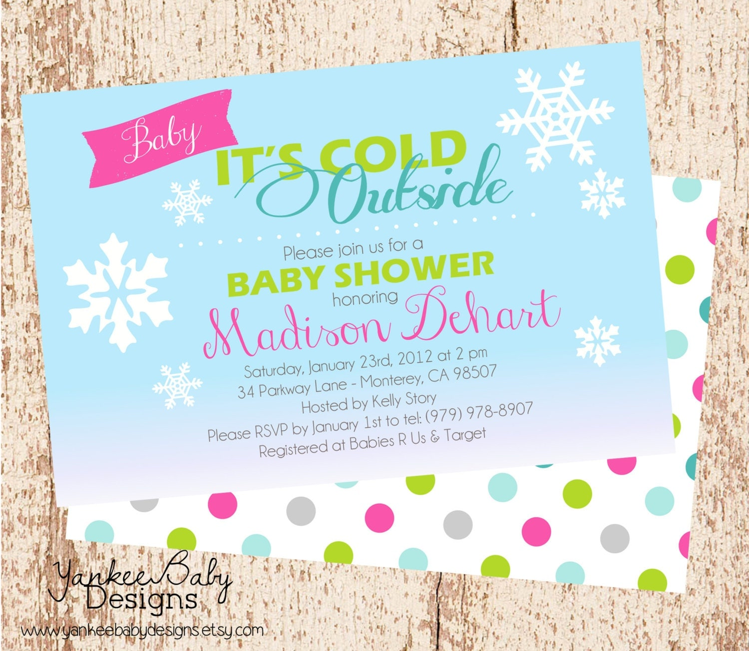 baby it 39 s cold outside baby shower invitation