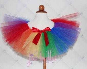 TUTU SKIRT...Rainbow Tutu Skirt...Newborn Tutu...Baby Tutu...Toddler Tutu...Cakesmash Tutu...Birthday Tutu...Summer Dress