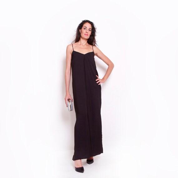 SALE 30% OFF Resort Maxi Dress/ Chic Maxi Dress / Black Maxi
