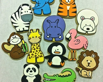 Zoo Animal Party Favor Cookies for Birthdays, Baby Shower Cookie Favors, Zoo Theme Cookies, Animal Cookies for Any Reason