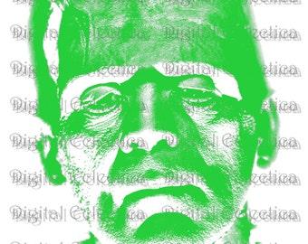 Frankenstein Halloween Monster. Frankenstein PNG. Halloween PNG. Halloween Monster Print. Frankenstein Image. Frankenstein Picture No. 0078a