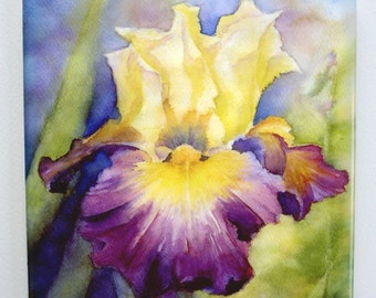 Iris Tile Trivet Watercolor