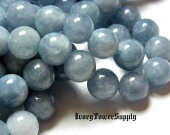 1 Strand 8mm Aquamarine Beads, Natural Stone Beads, Blue Beads, Semi Precious Beads, Gemstone Beads, Round beads