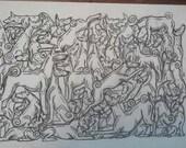 UniQ Basenji ontwerp afdrukken