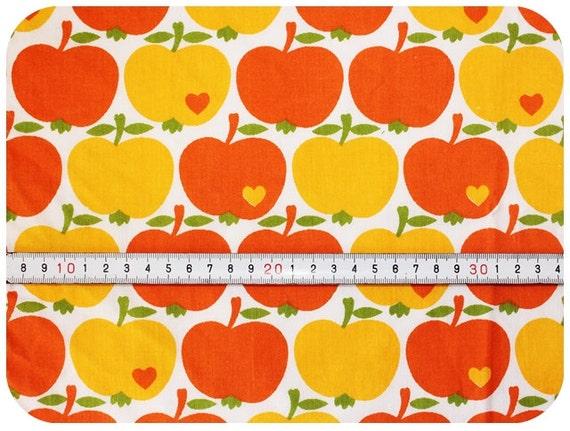 Graziela retro vintage children 39 s fabric with apples for Retro kids fabric